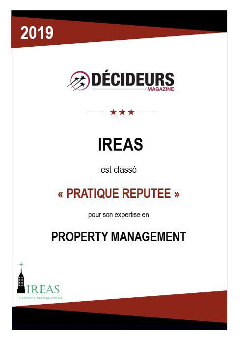 """Décideurs Magazine classe IREAS """"pratique réputé"""" pour son expertise en Property Management"""