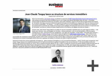 Jean-claude Tanguy creates its real estate services structure